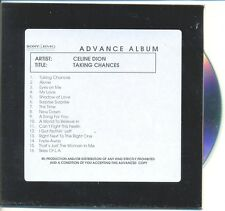 CELINE DION RARE Australian PROMO Acetate Advance CD Taking Chances