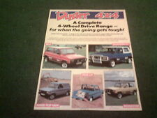 1989 DACIA DUSTER 4x4 + SHIFTER PICKUP & DROPSIDE UK LEAFLET BROCHURE Renault 12
