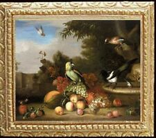 BIRDS & FRUIT Framed Dollhouse Picture Miniature Art - MADE IN AMERICA