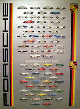 Porsche Street/ Race History/. Out of Print and Very Hard to Find Car Poster.