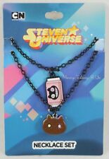 New Cartoon Network Steven Universe Cookie Cat Pendant Chain Necklace Set 2 Pack