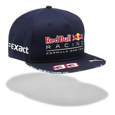 2017 OFFICIAL F1 Red Bull Racing Max VERSTAPPEN Flat Brim Cap Hat – NEW