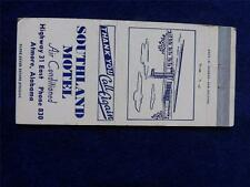 SOUTHLAND MOTEL AIR CONDITIONED ATMORE ALABAMA PHONE 830 VINTAGE MATCHBOOK