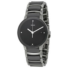 Rado Centrix Black Ceramic Mens Watch R30934712