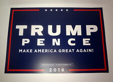 DONALD TRUMP MIKE PENCE FOR PRESIDENT MAKE AMERICA GREAT AGAIN 2016 SIGN POSTER