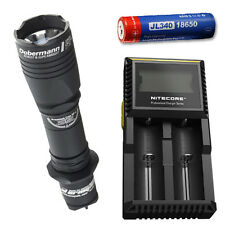 Armytek Dobermann Pro XP-L Hi Warm w/ D2 Charger & Jetbeam 3400mAh Battery