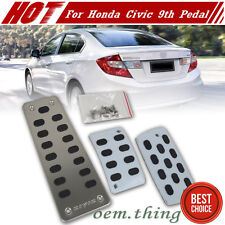 For HONDA 9th 9 Gen CIVIC AT Stainless Gas Pedal W/non slip rubber JDM 2015