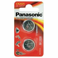 CR2025 Coin Battery Pack of 2 Panasonic 3V/ for Watches Cameras Car Keys Torches