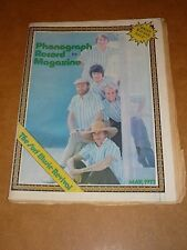 Phonograph Record Magazine May 1973 Beach Boys cover