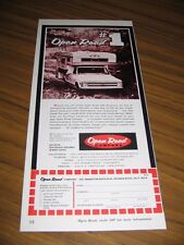 1969 Print Ad Open Road Pickup Truck Campers Redondo Beach,CA