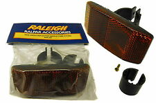 Raleigh Reggisella Bici Wide Posteriore Riflettore, si adatta alla maggior parte delle bici & ideale per rimorchi