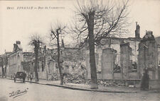 CPA GUERRE 14-18 WW1 MARNE EPERNAY rue du commerce