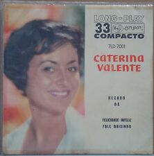 "CATERINA VALENTE 1962 Sings In Portuguese Unique P/S Edition 7"" 45 EP BRAZIL"