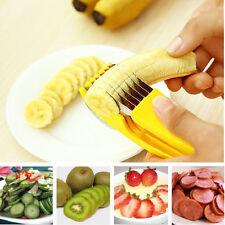 Banana Slicer Stainless Steel Fruit Cutter Cucumber Chopper Vegetable Peeler New