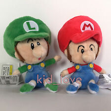 2X New Super Mario Plush Soft Toy Doll Baby Mario Luigi Stuffed Animal Teddy 6""