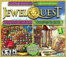 Jewel Quest The Sleepless Star 5 & Seventh Gate 3 PC Game Window 10 8 7 Vista XP