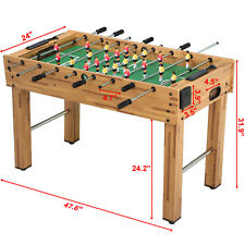 """Foosball Table 48"""" Competition Sized Arcade Game Room Hockey Family Sport"""