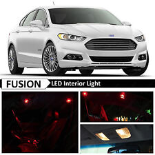 16x Red Interior LED Light Package Kit for 2010-2014 Ford Fusion