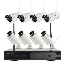 8 CH Outdoor Wireless Home CCTV System WiFi Security IP Cameras HD NVR Kit AU
