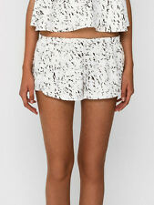 The Fifth Label Black White Print Loose Satisfaction day Beach Short L 12 - 14