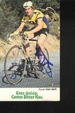 FRANK VAN IMPE cyclisme ciclismo cp Signée KAS autographe Cycling wielrenner