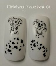 Nail Art Water Transfer- Disney Decal #222 D241 Black Sticker Dalmation Animal