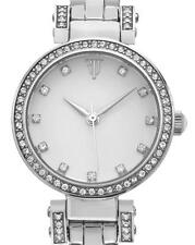 TIMEPIECES BY RANDY JACKSON STAINLESS STEEL SWAROVSKI CRYSTAL WATCH wrj10055fa03