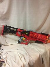 Air Zone 48 Power Strike battery operated Gun Blaster Stock Red 42 Darts Nerf
