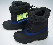 NWT Gymboree Snowboard Legend Sz 13 Sherpa Trim Black & Blue Rubber Winter Boots