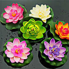 6 pc s Mixed Artificial Floating Lotus Flower floating in Tank /Pool /