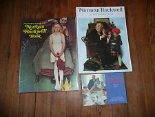 Lot of 3 NORMAN ROCKWELL Picture Book POSTCARDS Saturday Evening Post RETROSPECT