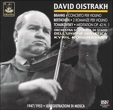 DAVID OISTRAKH PERFORMS BRAHMS, BEETHOVEN, TCHAIKOVSKY NEW CD