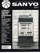 PUBLICITE ADVERTISING 044   1979    SANYO   hi-fi  tuner ampli chaine