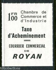 Fin de catalogue timbre de grève Royan N° 27 référencé Maury