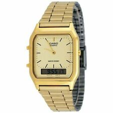 Casio Mens Classic Combi Bracelet Watch - Gold - New & Genuine (AQ230GA-9DMQ)