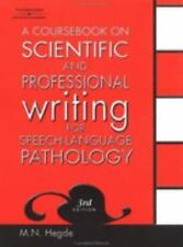 A Coursebook on Scientific and Professional Writing for Speech-Language Patholog