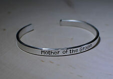 mother of the groom sterling silver cuff