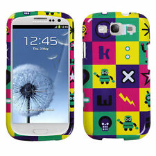 For Samsung Galaxy S III 3 HARD Protector Case Snap On Phone Cover Robots