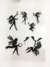 Fairy Transparent Clear Rubber Stamp Sheet Cling Scrapbooking DIY.