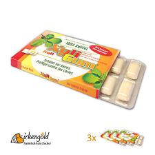 3 x 12 Xyligum Frucht, Zahnpflege Kaugummi, Xylit, Birkenzucker, aspartamfrei