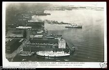 024 - TORONTO Ontario 1919 Birds Eye View of Waterfront. Steamers. Real Photo PC