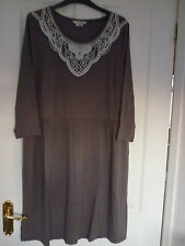 BODEN FAYE DRESS, DRAPEY JERSEY PEWTER. UK 18 REG, EUR 44-46, US 14. BNIB. WH733