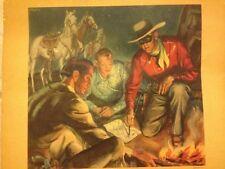 Tonto Dan Reid and The Lone Ranger Merita Bread Color Picture 1948