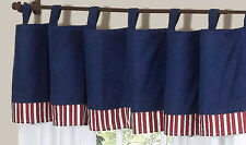 Red White Blue Window Valance Curtain for Sweet Jojo Designs Aviator Bedding Set