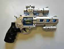 """1 NEW BATTERY OPERATED SPACE PISTOL 10"""" HANDGUN REVOLVER WITH LIGHTS AND SOUND"""