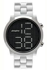 Phosphor Appear Swarovski Silver Crystals Mechanical Digital Watch MD013G