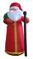 6 FOOT Christmas Inflatable Santa Claus Lighted Party Garden Balloon Decoration