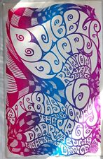 BUBBLE PUPPY 1984 POSTER BY MICHAEL PRIEST-PSYCHEDELIC AUSTIN = ORIGINAL SCARCE