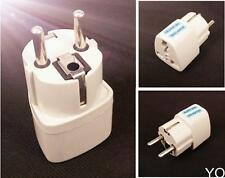 YC White AU US UK to EU Euro Plug AC Power Travel Home Charger Adapter Converter
