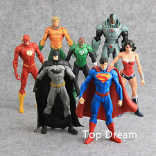 7X DC Super Heros Batman Sueprman The Flash Green Lantern Action Figures 7'' Toy